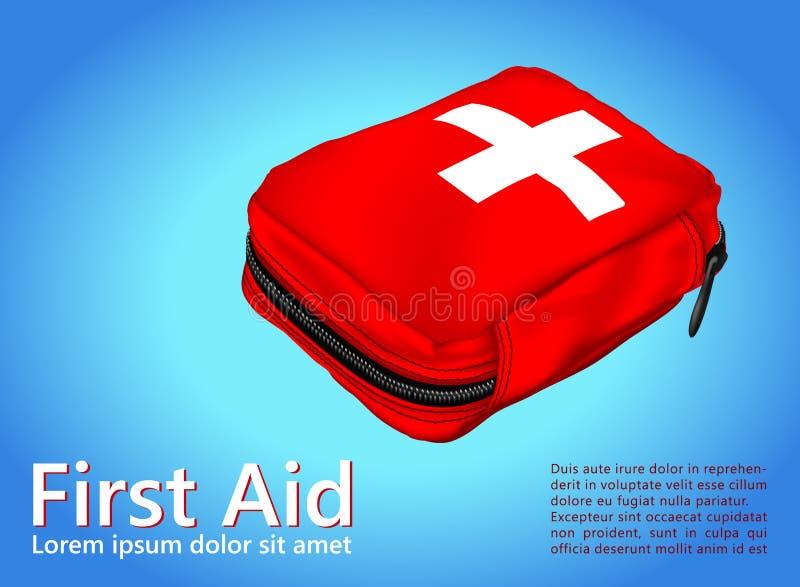 急救工具;医疗设备 皇族释放例证