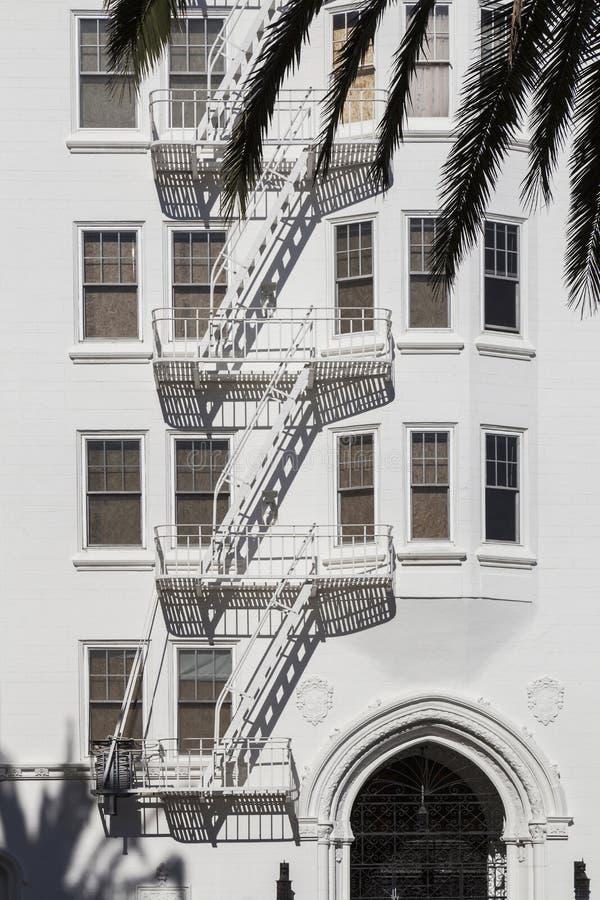 紧急楼梯 库存照片