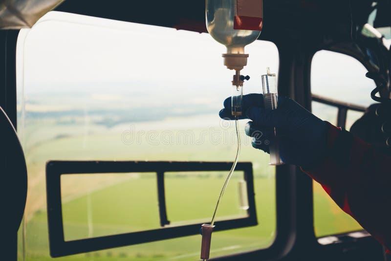 紧急医疗服务的直升机 库存照片