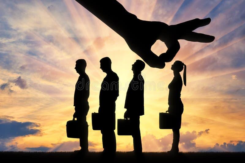 性别不平等和歧视的概念在事业妇女的 免版税库存照片