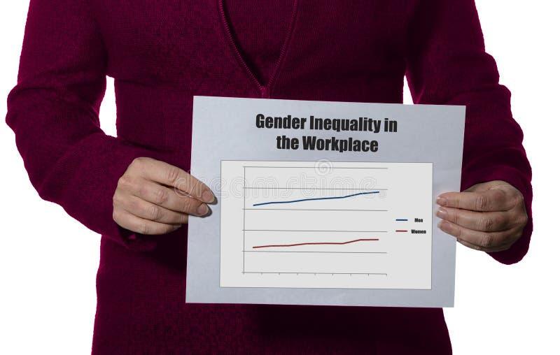 性别不平等在工作场所 图库摄影