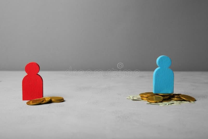 性别和性别薪水差距 性别不平等 免版税库存图片