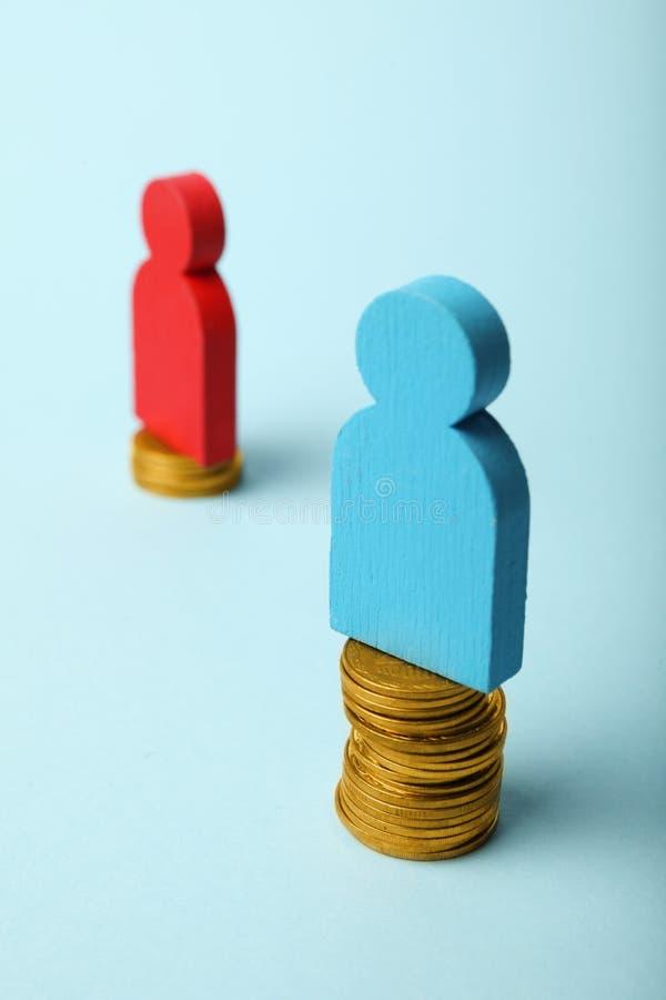 性别和性别薪水差距 性别不平等 图库摄影