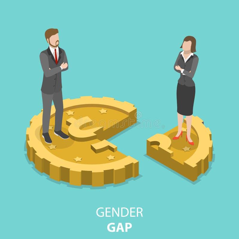 性别差距平的等量传染媒介概念 皇族释放例证