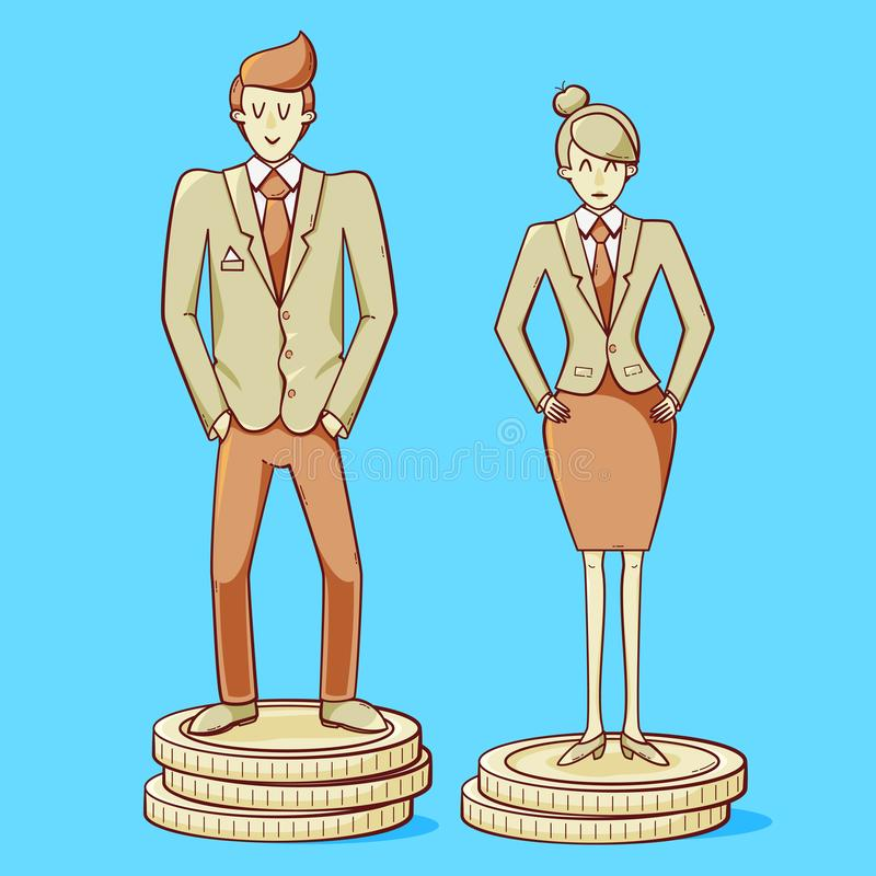 性别差距 向量例证