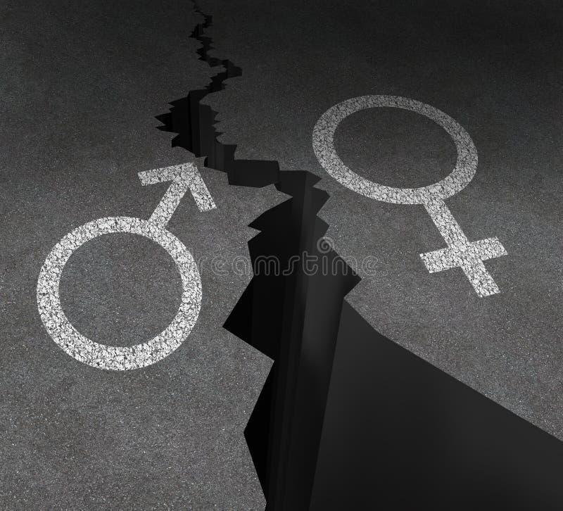 性别差距 皇族释放例证