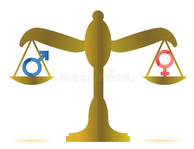 性别平等概念 向量例证