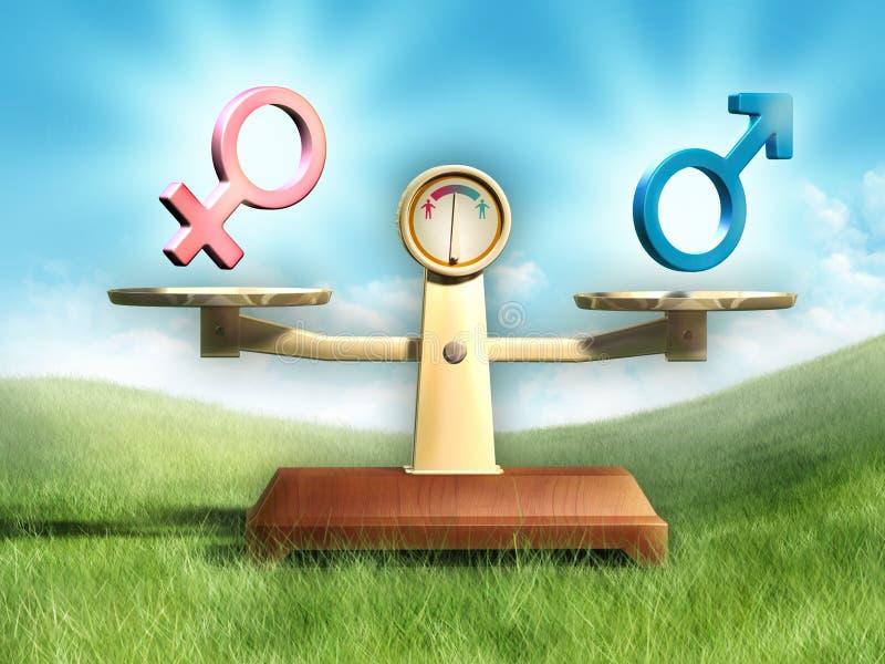 性别平等 库存例证