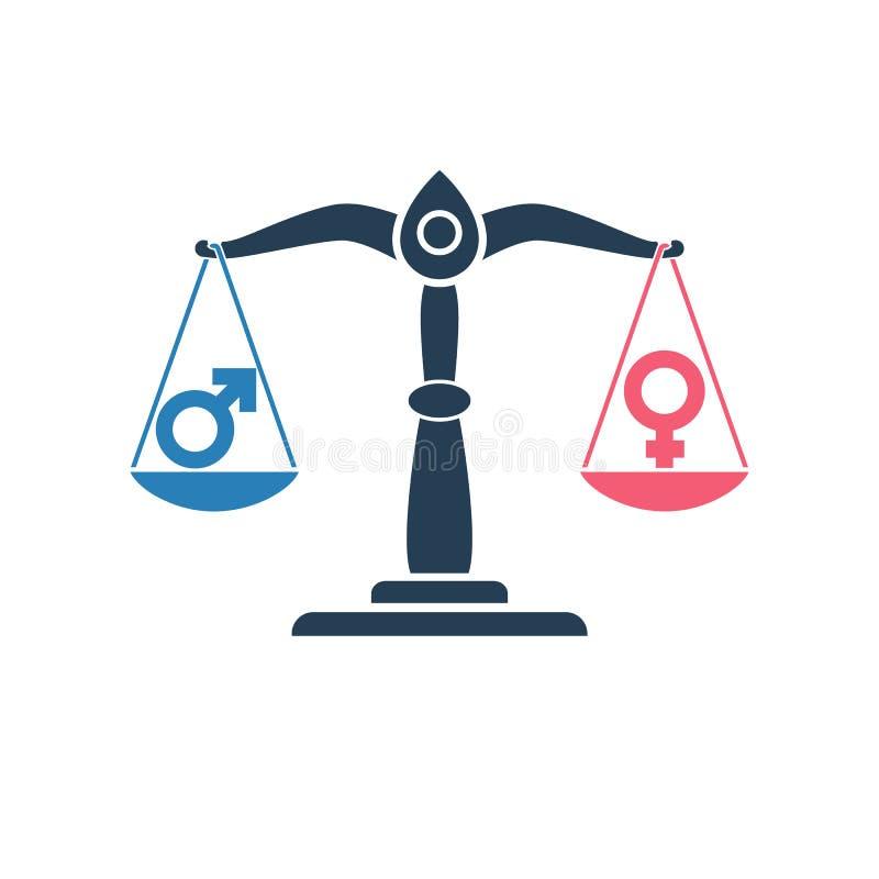 性别标志传染媒介 向量例证