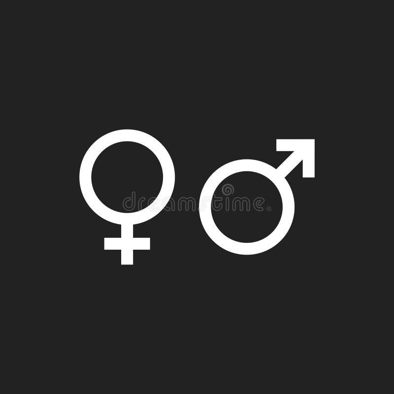 性别标志传染媒介象 男人和妇女概念象 向量例证