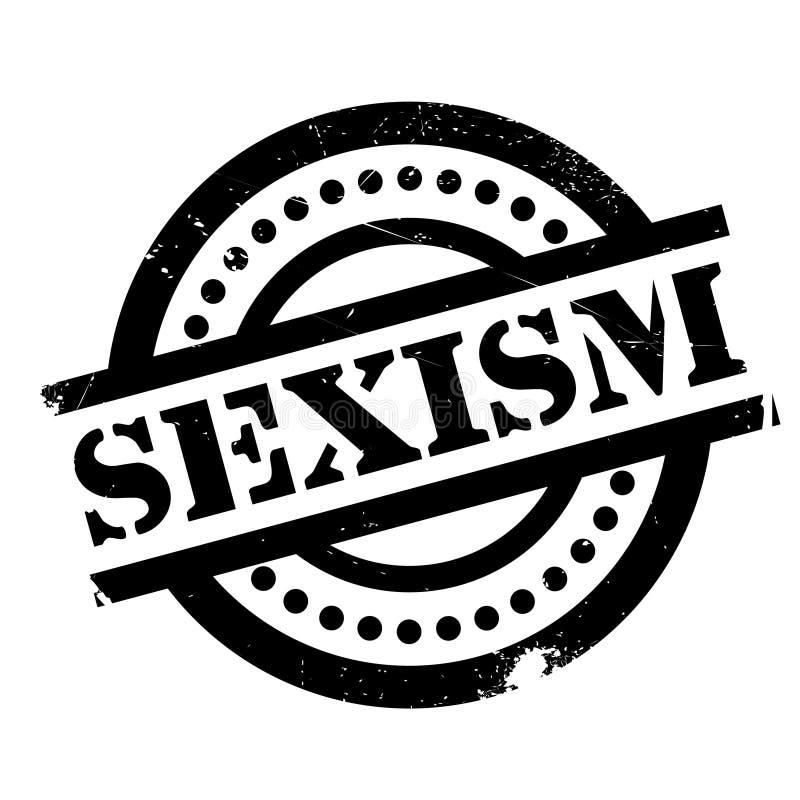性别歧视不加考虑表赞同的人 库存例证