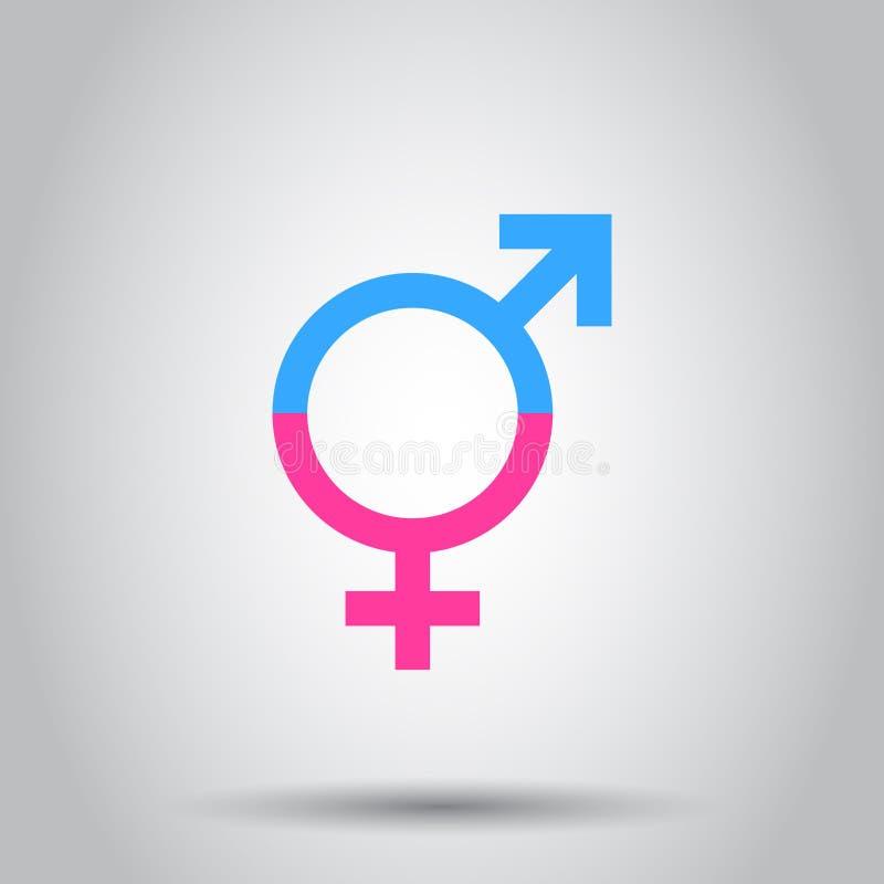 性别相等的象 在被隔绝的背景的传染媒介例证 B 库存例证