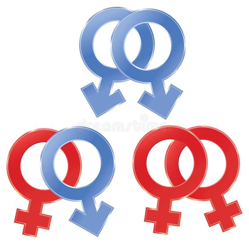 性别符号 库存例证