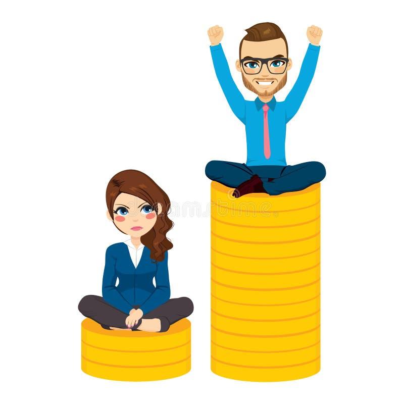 性别薪水差距 皇族释放例证
