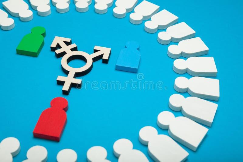 性别身分概念,性再分配行为,LGBT 两性体,变性 免版税库存照片