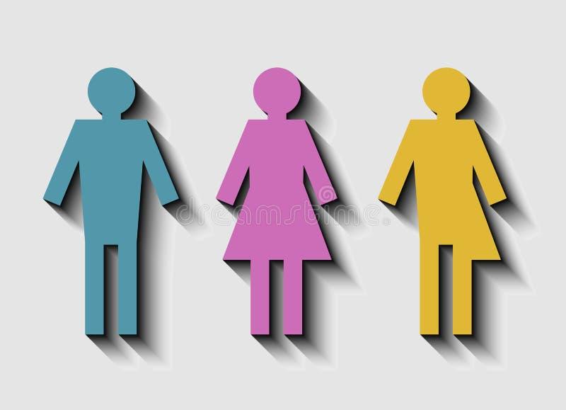 性别问题概念的传染媒介例证 库存例证