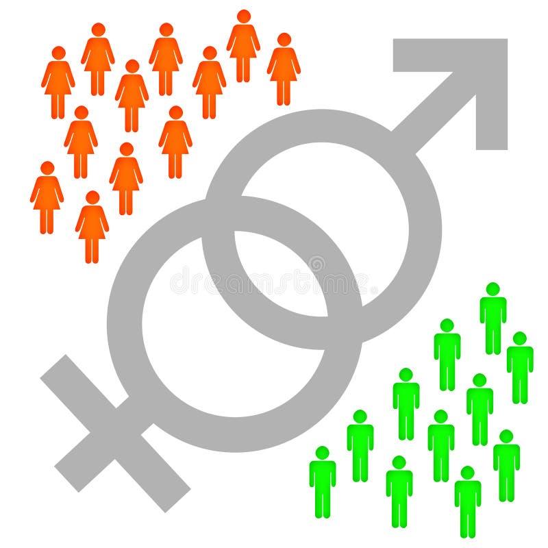 性别 库存例证
