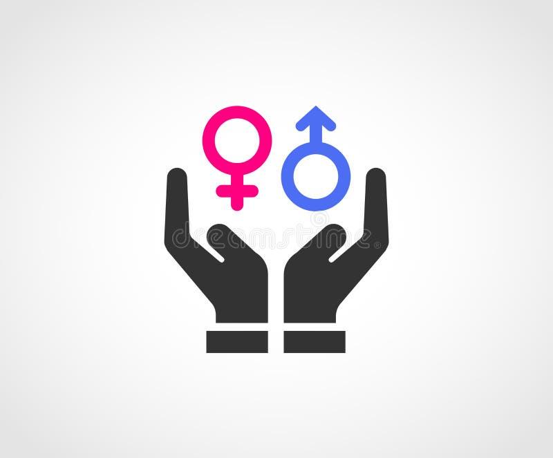 性别Equaly概念象设计 皇族释放例证