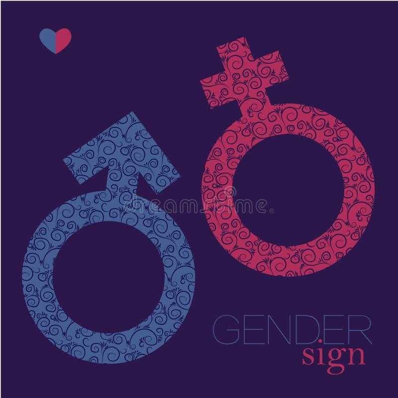 性唱歌 男女平等象 男人和妇女符号 向量例证