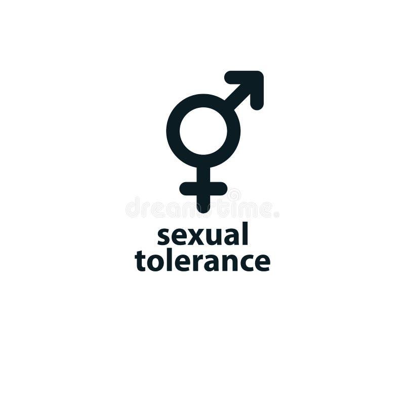 性容忍概念 火星男性和金星女性标志com 向量例证