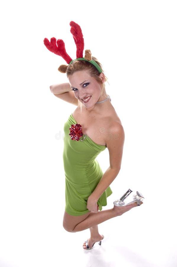 性感圣诞节的礼品 免版税库存照片