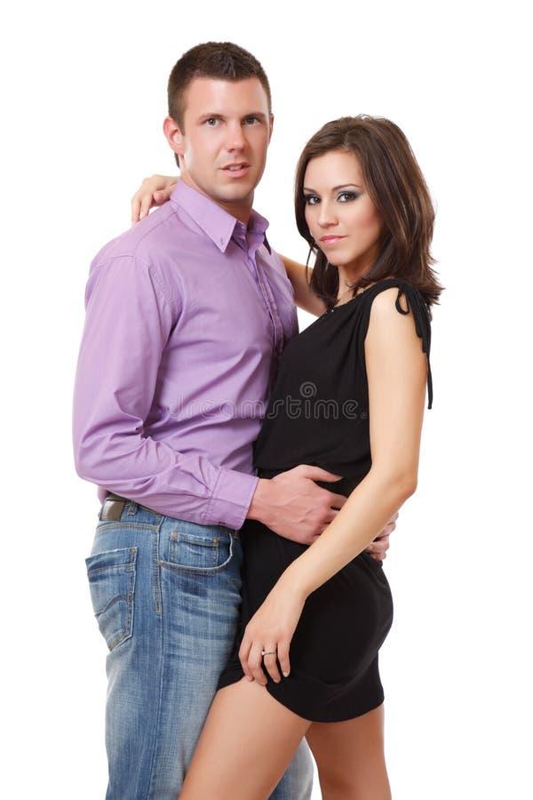 性感夫妇典雅的纵向 库存图片