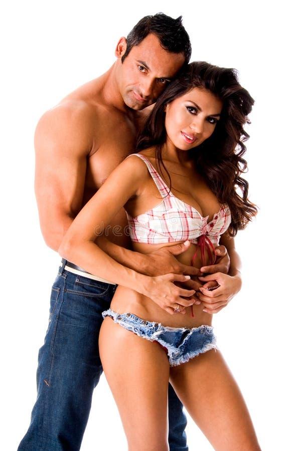 性感夫妇的拉丁美洲人 图库摄影