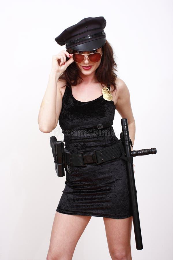 性感官员的警察 图库摄影