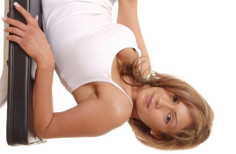 性感白肤金发的女孩 免版税库存照片