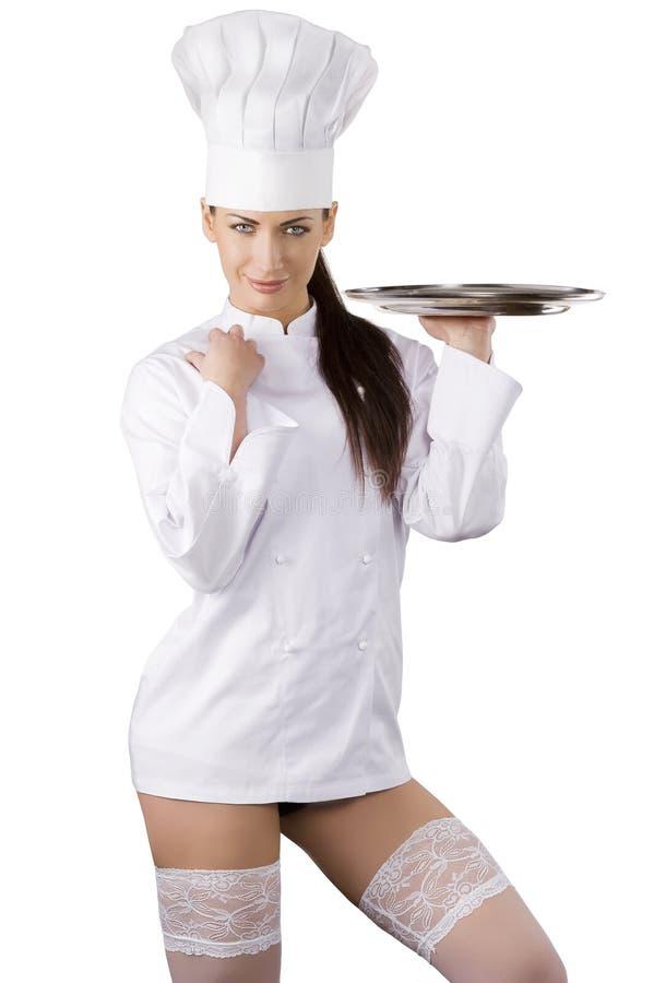 性感的主厨 免版税库存图片