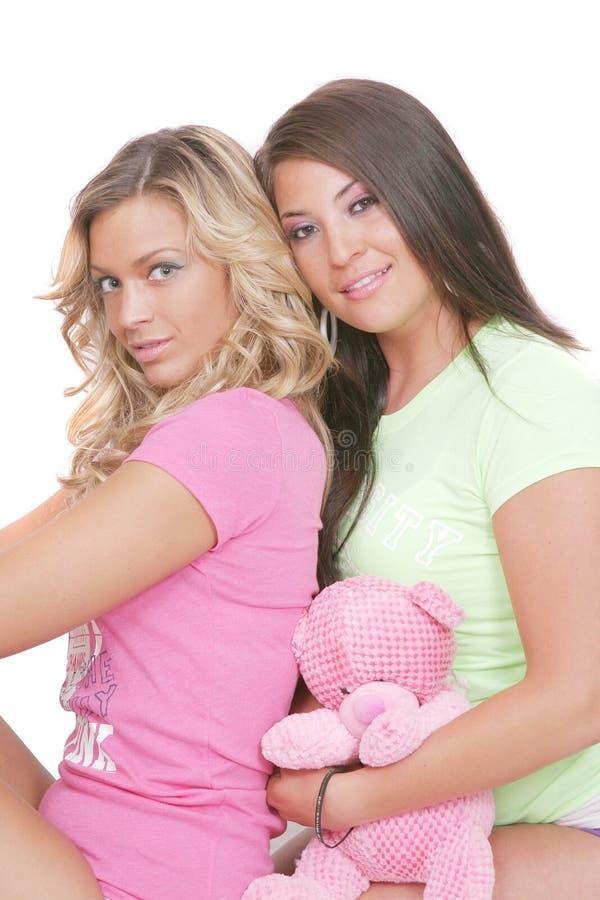 性感的二妇女 免版税库存图片