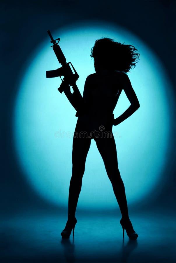 性感的军事女孩 免版税库存图片
