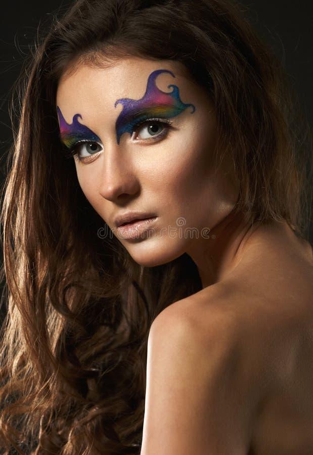 性感的女性模型画象  免版税图库摄影