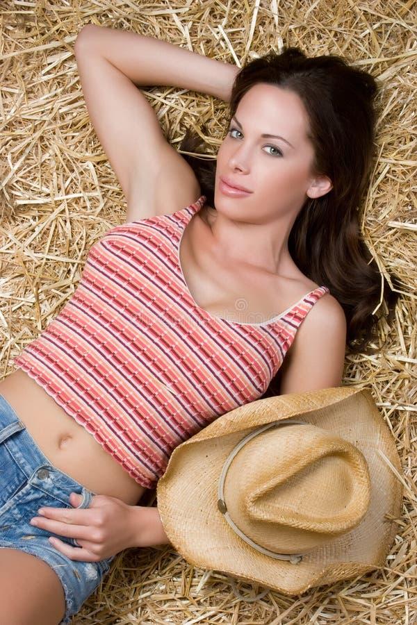 性感的女牛仔 库存图片