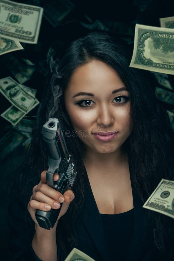 性感的强盗妇女 免版税库存图片