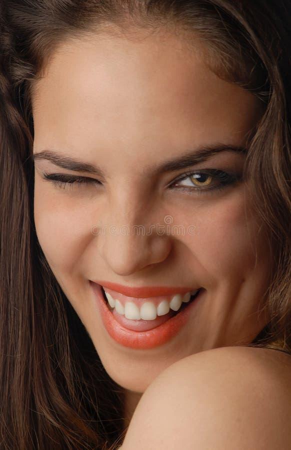 性感的微笑 免版税库存图片