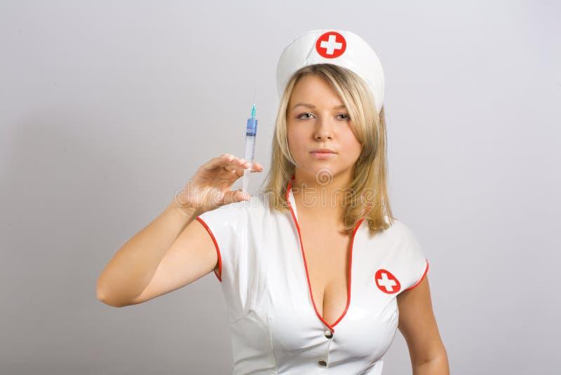 性感的护士 库存照片