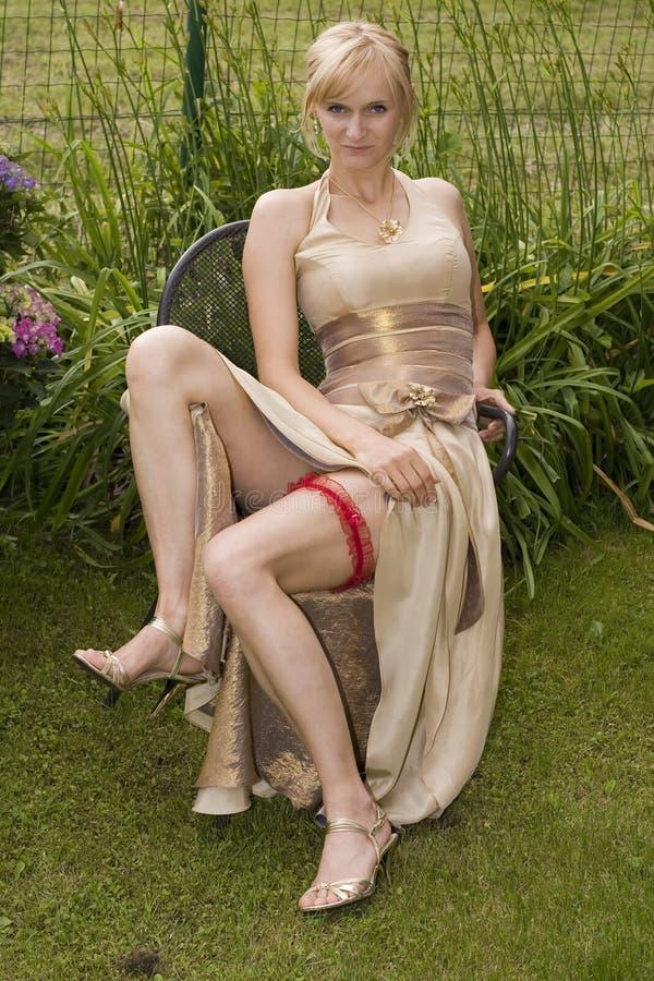 性感的新娘 免版税库存图片