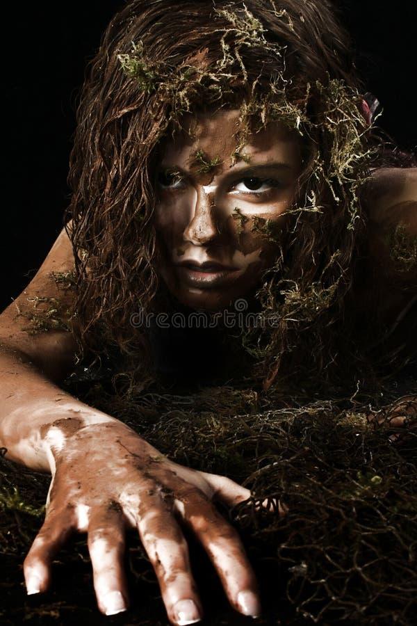 性感的沼泽妇女 免版税库存照片