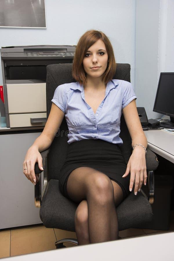 性感的秘书 库存图片