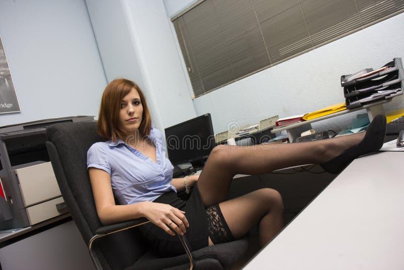 性感的秘书 免版税库存照片