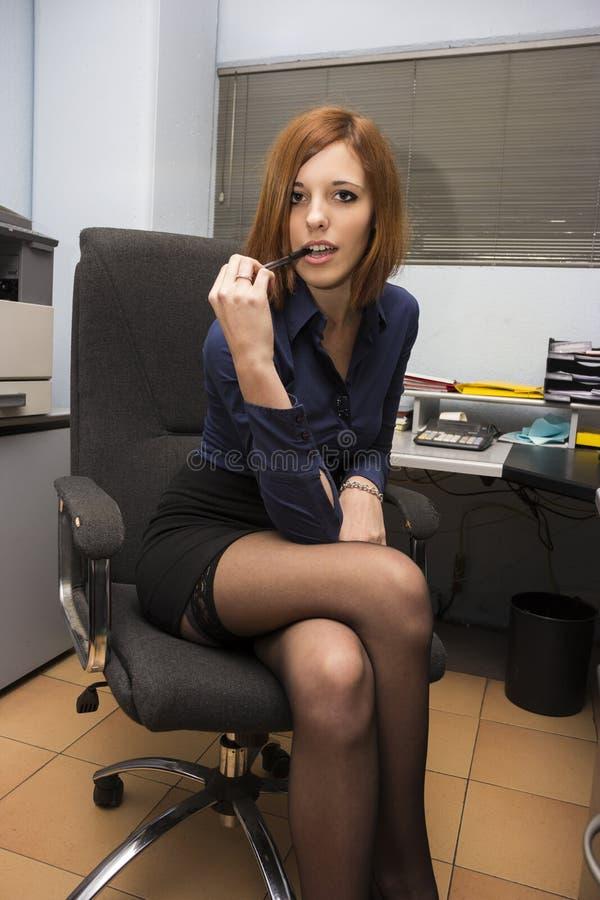 性感的秘书 免版税库存图片