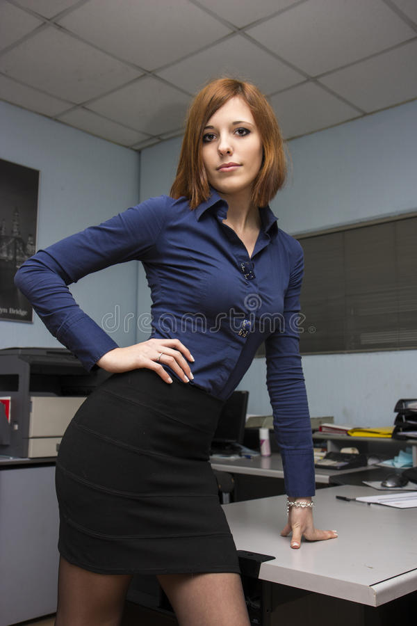 性感的秘书 免版税图库摄影