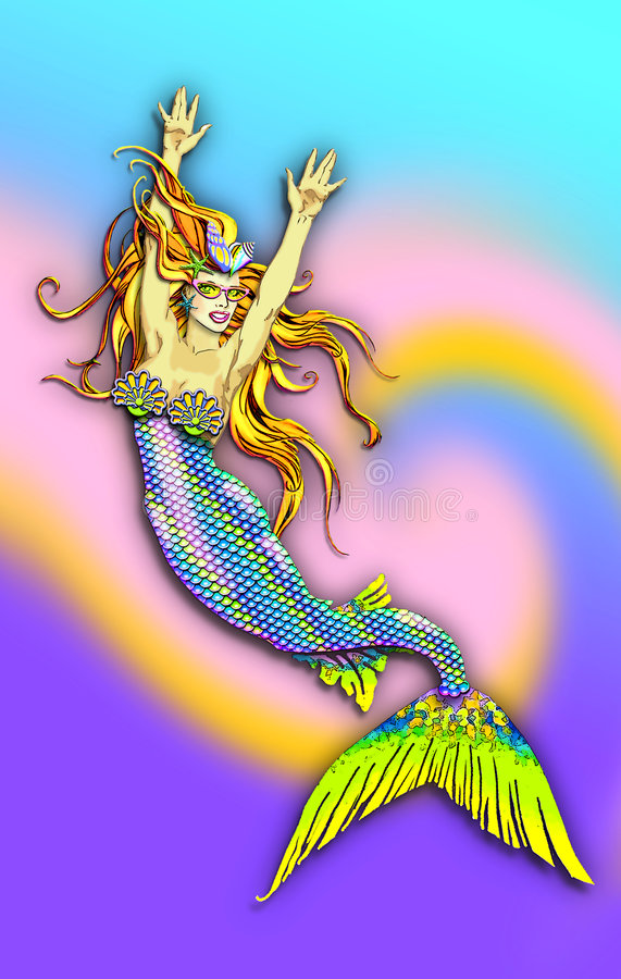 性感的美人鱼非常 皇族释放例证