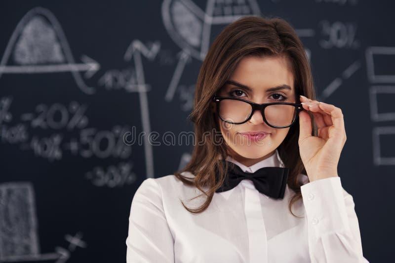 性感的老师 免版税库存图片