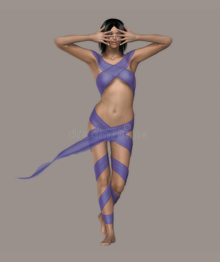 性感的舞蹈演员 向量例证