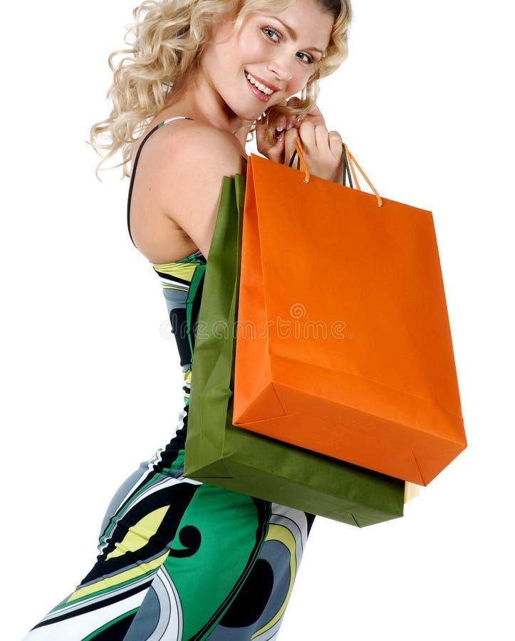 性感的购物妇女 图库摄影