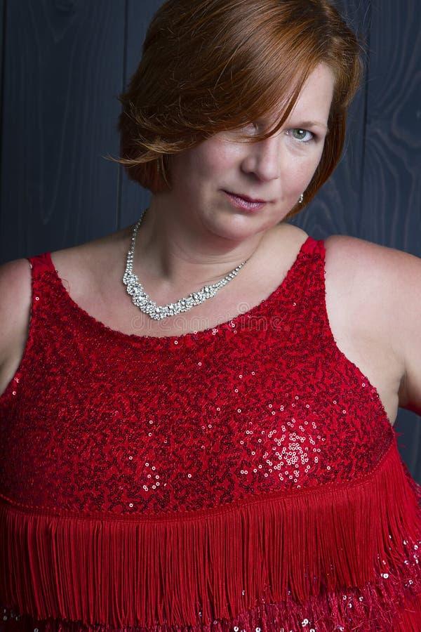 性感的超重妇女 免版税图库摄影