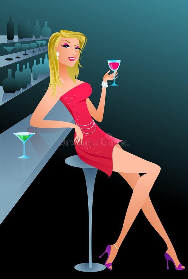 性感的迪斯科聚会女孩- 4 皇族释放例证