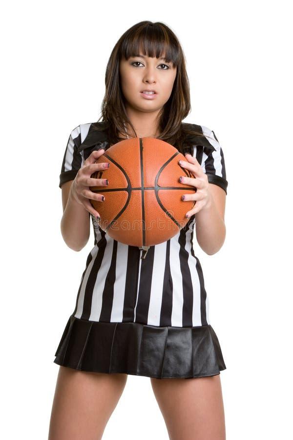 性感篮球的裁判 免版税库存图片